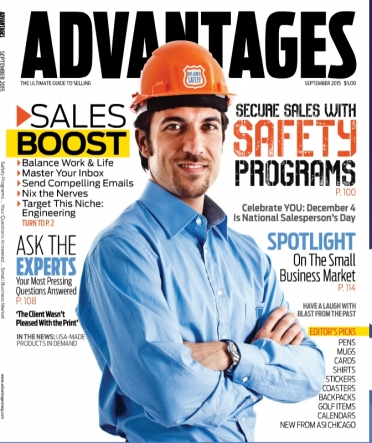 Pamela Grossman of In the Present Discusses Promotional Projects in Advantages Magazines September 2015 issue
