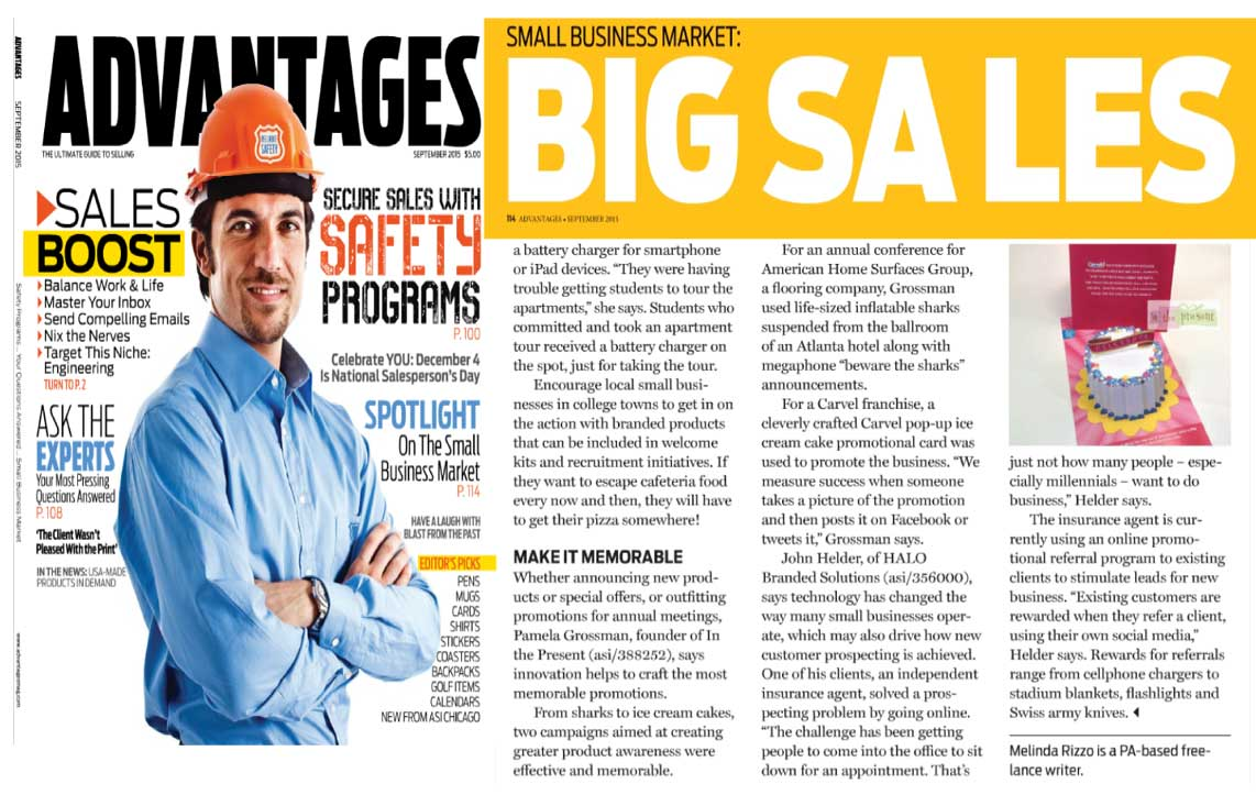 In the Present Discusses Promotional Projects in ADvantages Magazine