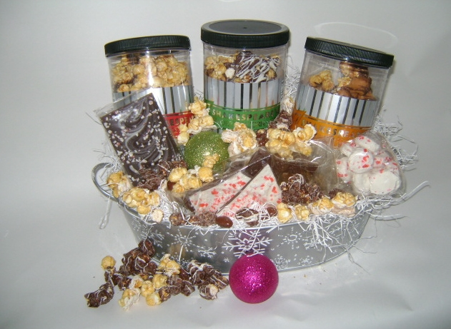 In the Present Holiday 2015 Popcorn Gift Basket