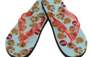 In the Present Promotional Products Full Color Imprinted Flip Flops