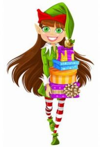 Peppermint the Head Elf at Inthepresent promotional products